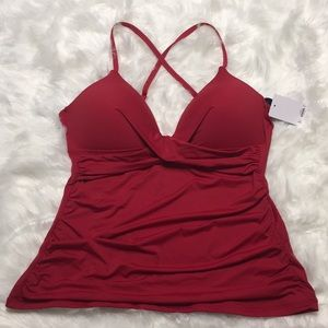 Apt. 9 red push-up bathing suit top